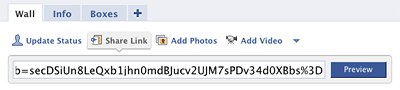 Facebook: Paste Your Recommendation Link
